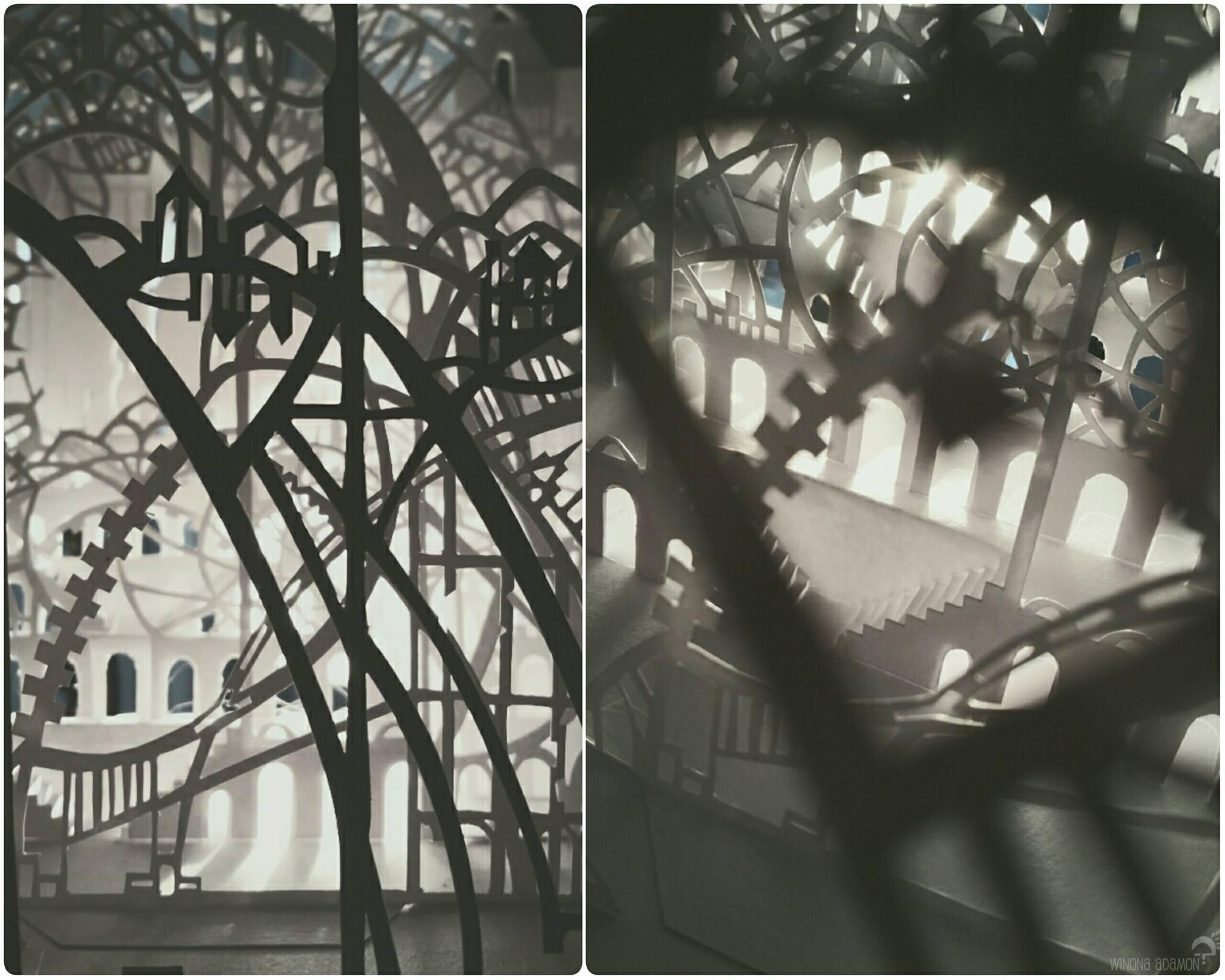 Paysage en papier découpé de Charline Mahroug